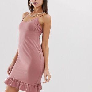 🐣 ASOS mini bodycon dress with frill hem